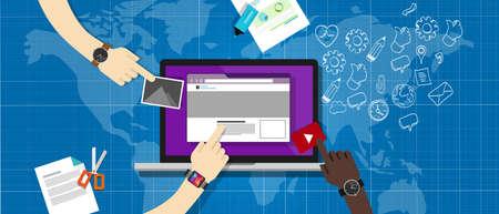 document management: sistema de gesti�n de contenidos cms en la computadora port�til elemento encastrado web