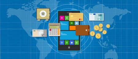 mobile banking: mobile banking financial application management money  smart phone
