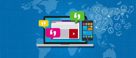 enterprise messaging system ems communication online collaboration Illustration