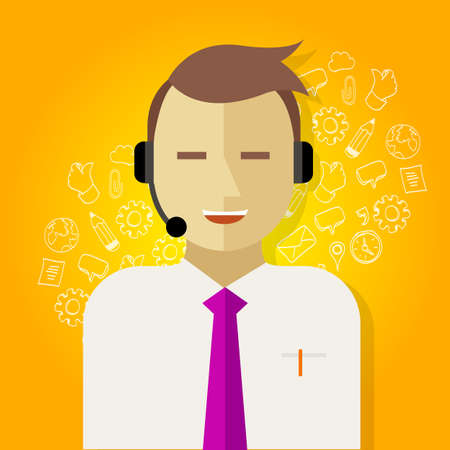 office automation: call center crm customer relationship management icon