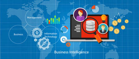bi business intelligence-database analyse van gegevens informatie