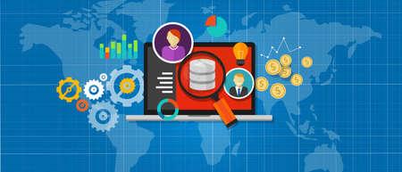 Base de données de l'intelligence d'affaires informations bi de données d'analyse Banque d'images - 39826978