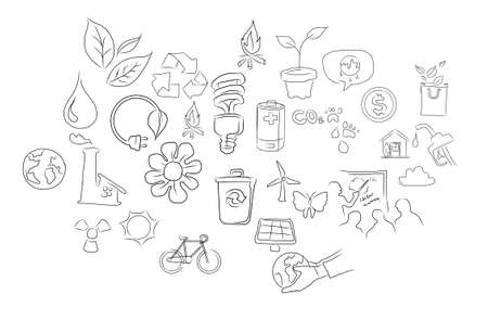 eco green environment friendy icon illustration drawing illustration