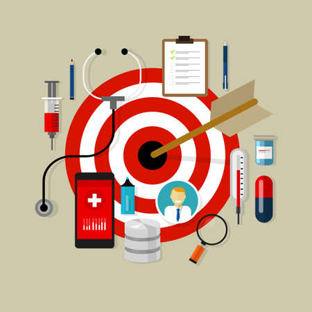 gezondheid medicatie doelgroep effectief medicijn obama zorg doel Stock Illustratie