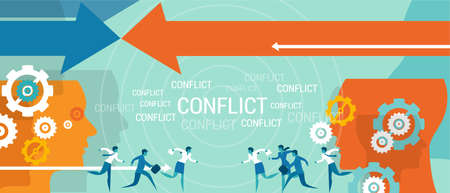 conflict management business problem resolve negotiation vector Zdjęcie Seryjne - 40899689