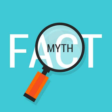 honestidad: hecho o mito fction o verdadero bucle falsa ilustración
