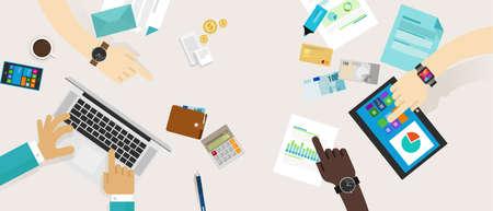 personal finance financieel plan gezinsbudget samenwerking Stock Illustratie
