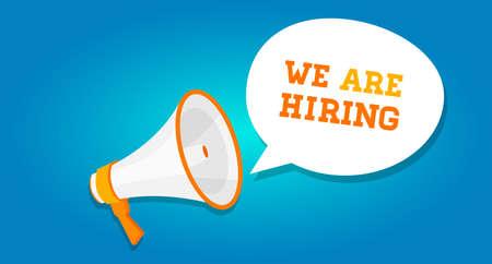 hiring: we are hiring announcement vacancy open recruitment Illustration