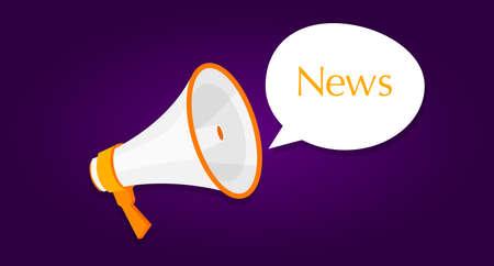 loud speaker: news megaphone announcement loud speaker message pop-up