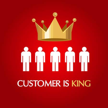 servicio al cliente: cliente es el rey servicio concepto reina usuario consumidor excelente