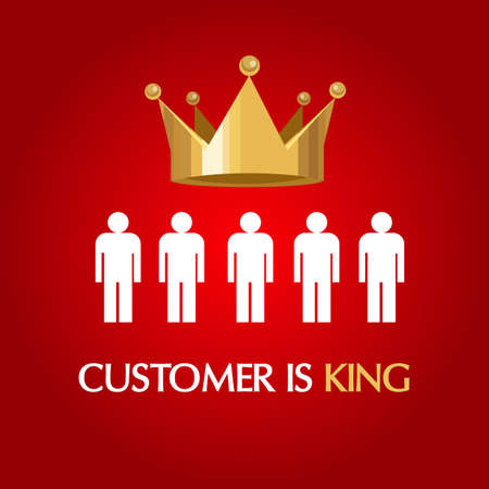 customer is king consumer user queen concept service excellent