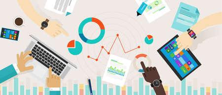 Bar Graph Chart Data Information Infographic Report collaboration desk concept 向量圖像