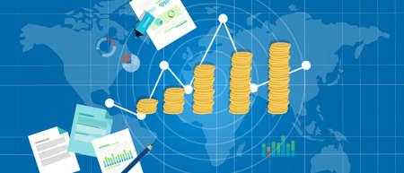 the value: El crecimiento del PIB el crecimiento económico producto interno carta pila de dinero