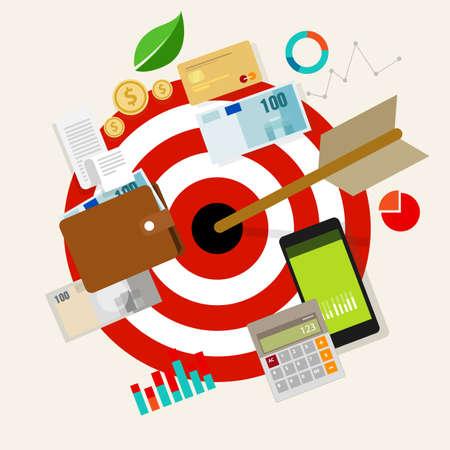 financial money business future target arrow vector illustration Illustration