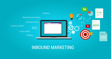 marketing concept: inbound content blog marketing SEO digital traffic