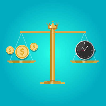 time is money: time money exchange compare price vector balance
