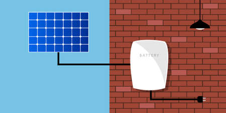 solar battery: solar panel battery pack home green technology electricity grid