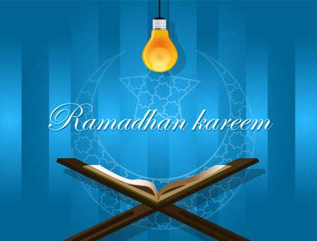 koran: islam read quran under bulb koran ramadan ramadhan kareem ied mubarak
