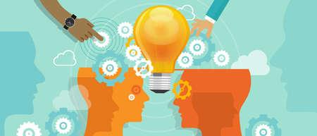 会社革新コラボレーション人合併アイデア