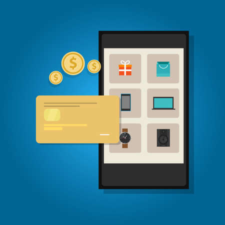 electronic transaction: mobile commerce online credit card smart phone transaction