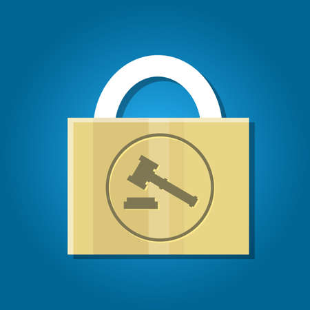patent key: patent law protection secure rights vector key Illustration