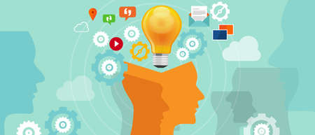 znalost: Informace iverload údaje nápad hlava převodovky žárovka Ilustrace