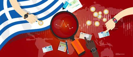 economy crisis: greece economy down financial crisis debt default monetary
