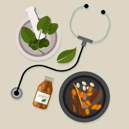 Naturale medicina omeopatia alternativa modo salute tradizionale Archivio Fotografico - 42754316