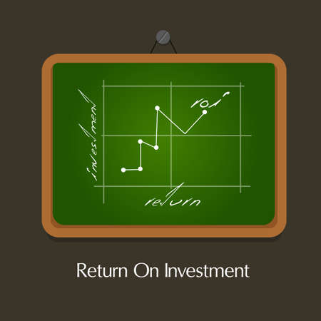 return: ROI Return on of investment business plan Illustration