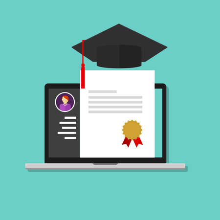 online degree laptop education college school graduate certificate