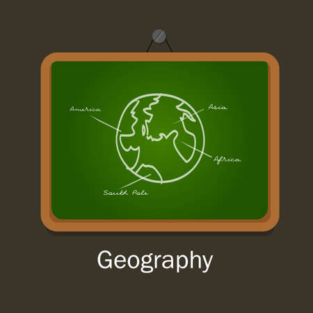 geography: geography school subject study chalk board class earth globe