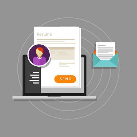 send: curriculum vitae cv resume employee recruitment data paper work send online