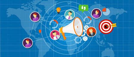 marketing salea team international world globe vector Illustration