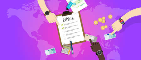 honorable: business ethic ethical company corporate concept vector