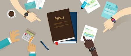 비즈니스 윤리 윤리적 인 회사 기업 개념 벡터