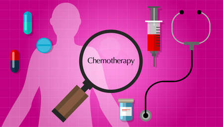 chemotherapy chemo cancer treatment medication vector pill Illustration