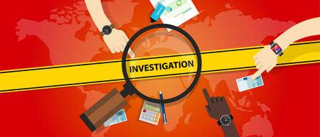 internet crime: investigation police yellow line business internet crime vector