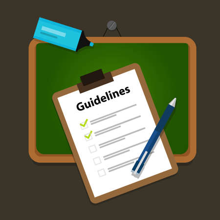 guidelines business guide standard document company  vector Vettoriali