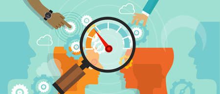 survey: business benchmarking benchmark measure company performance vector Illustration