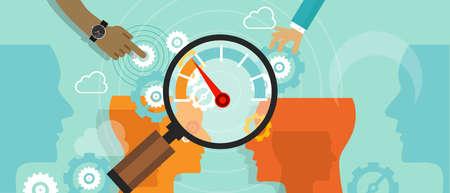 process: evaluación comparativa negocio de la compañía medida de referencia del vector rendimiento