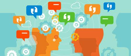 Quejas hablan cliente burbuja de conversación charla vetor duscussion Foto de archivo - 44522750