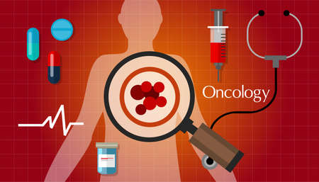 oncology cancer medical treatment carcinoma health vector Illustration