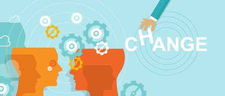gestion: concepto de gestión de cambio de dirección mejora vector hacia delante