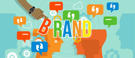 brand building branding business concept company corporate vector Illustration