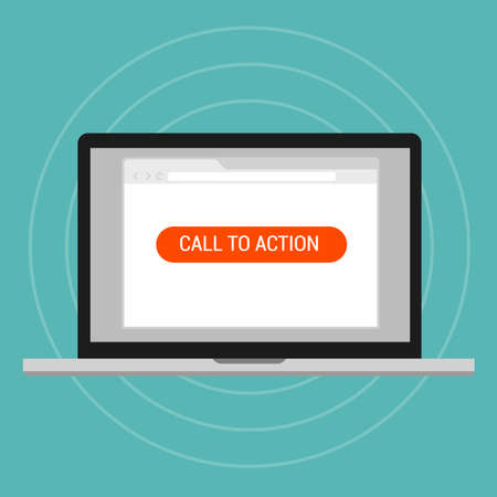 on call: call to action landing page optimization effective layout traffics vector