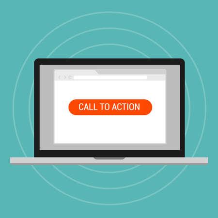 acion: llamar a la página de optimización de aterrizaje acción disposición efectiva trafica vectorial