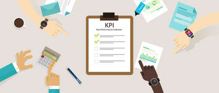 kpi key performance indicator business concept evaluation strategy plan measure hr vector
