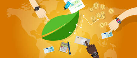 corporate finance: sustainable business eco freindly corporate responsibility csr vector