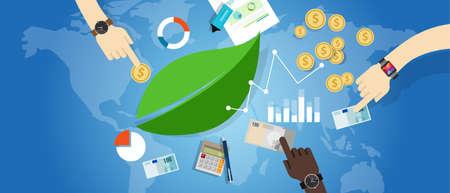 gobierno corporativo: crecimiento sostenible sostenibilidad desarrollo de la economía verde concepto de medio ambiente vector