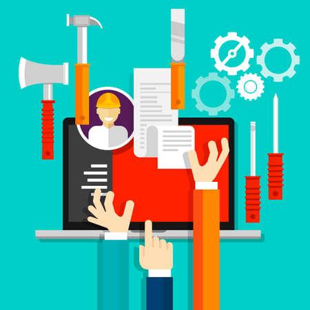 the maintenance: mantenimiento herramientas de servicios vector icon industria técnica
